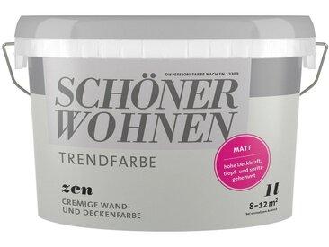 SCHÖNER WOHNEN-Kollektion SCHÖNER WOHNEN FARBE Farbe »Trendfarbe Zen«, matt 1 l, grau, 1 l, Zen