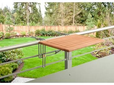MERXX Balkonhängetisch »Holz«, Eukalyptusholz, klappbar, 60x40 cm, braun, 40 cm x 60 cm, braun