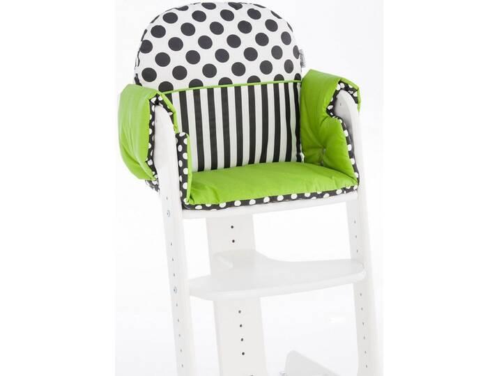 Herlag ® Sitzpolster für Hochstuhl Tipp Topp IV, »grün schwarz weiß« Weiß
