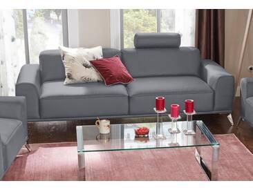 Guido Maria Kretschmer Home&Living 3-Sitzer »Delft«, mit Kopfstütze, grau, 225 cm, grau