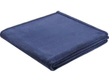BIEDERLACK Wohndecke »King Fleece«, leichte Qualität, blau, Kunstfaser, blau