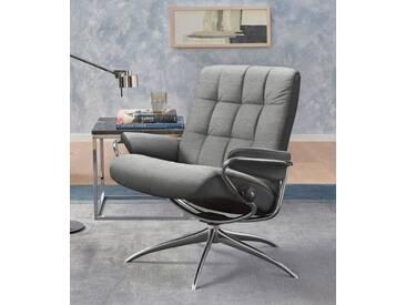 Stressless® Relaxsessel »London«, mit Star Base, in 2 Höhen, mit Relax-Funktion, grau, Standard Base, light grey