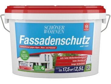 SCHÖNER WOHNEN-Kollektion SCHÖNER WOHNEN FARBE Fassadenweiss »Fassadenschutz 2,5L«, hoch wetterbeständig und wasserabweisend, weiß, 2.5 l, weiß