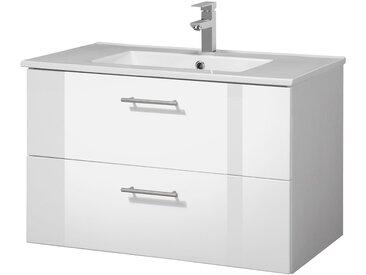 HELD MÖBEL Waschplatz-Set »Trento «, Waschtisch, Breite 80 cm, 2-tlg., weiß