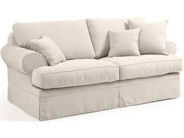 Max Winzer® 2-Sitzer »Helene«, inklusive Zierkissen, Breite 192 cm, natur, 192 cm, creme
