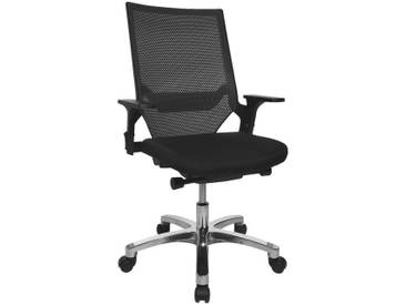 TOPSTAR Bürostuhl ohne Armlehnen »Autosyncron«, schwarz, schwarz