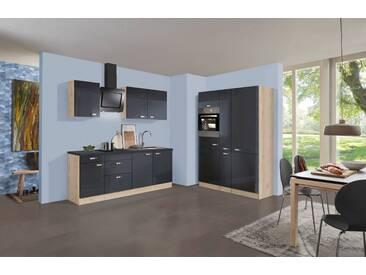 OPTIFIT Küchenzeile mit E-Geräten »OPTIkult Udine«, Gesamtbreite 360 cm, grau, ohne Aufbauservice, anthrazit