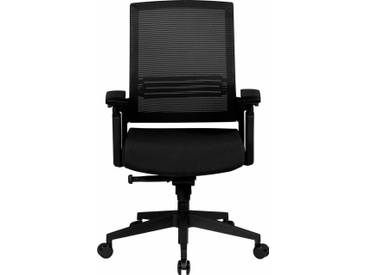 Amstyle Chefsessel »Apollo A2« mit Sitztiefenverstellung, schwarz, schwarz/schwarz