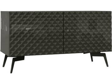 Bruno Banani bruno banani Lowboard »Design 1«, mit 3D-Fronten in Hochglanz, in zwei Breiten, grau, 2 Türen (105/42/57 cm), graphit Hochglanz