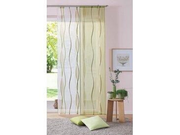 my home Schiebegardine »Dimona«, Klettschiene (2 Stück), inkl. Befestigungszubehör, grün, Klettschiene, transparent, grün