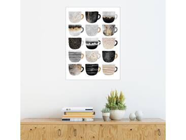 Posterlounge Wandbild - Elisabeth Fredriksson »Pretty Coffee Cups 3 White«, weiß, Forex, 100 x 130 cm, weiß