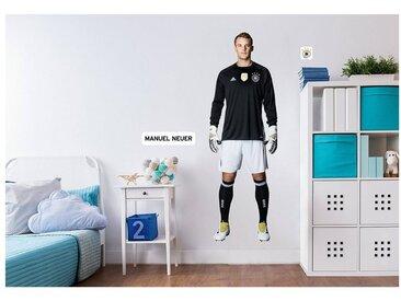 Deutscher Fußball-Bund Wandsticker Manuel Neuer, selbstklebend, 50,5 x 145 cm, schwarz, schwarz