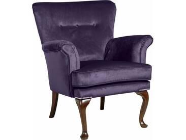 Max Winzer® Sessel »Barbie« im Barockstil, mit Ziernagelband, lila, purple