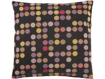Max Winzer® Zierkissen mit bunten Punkten, 40/40 cm, schwarz, schwarz gepunktet