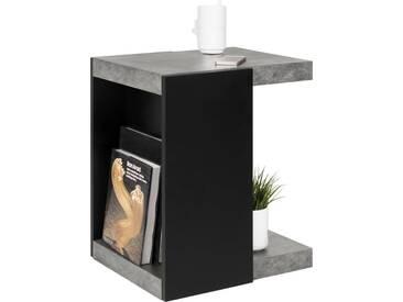 andas Couchtisch »Klaus«, moderne Beton-Optik, Breite 38 cm, schwarz, melamine/schwarz