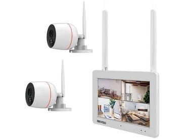 INKOVIDEO »Komplettset mit 2 Full HD Kameras« Überwachungskamera (Außenbereich, integrierter 17,78cm Bildschirm)