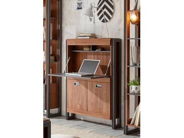 Home affaire Sekretär»Detroit«, Höhe 140 cm, im angesagten Industrial Look, braun, braun/schieferfarben