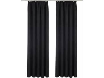 Bruno Banani Vorhang »Lagan«, Kräuselband (2 Stück), schwarz, Kräuselband, blickdicht, schwarz