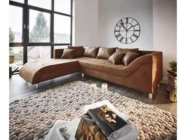 DELIFE Couch Cadiz Braun 261x204 Antik Optik