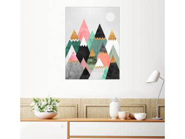 Posterlounge Wandbild - Elisabeth Fredriksson »Pretty Mountains«, weiß, Leinwandbild, 30 x 40 cm, weiß