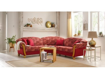 Home affaire Ecksofa »Milano«, gleichschenklig, rot, rot