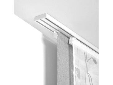 LICHTBLICK Flächenvorhangschiene, 3-läufig, Fixmaß, weiß, weiß