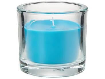 BUTLERS SCENTS »Duftkerze im Glas Vanille«, blau, Ø 8 cm, Höhe 8 cm