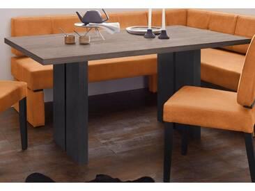 Mäusbacher Tisch »Mister IW«, Breite 140 cm, schwarz, schwarzstahl/sandeichefarben