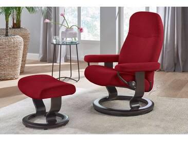 Stressless® Set: Relaxsessel mit Hocker »Garda« mit Classic Base, Größe L, mit Schlaffunktion, rot, Fuß wengefarben, red