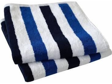 Dyckhoff Handtuch »Planet Streifen«, mit Streifen, blau, Walkfrottee, blau