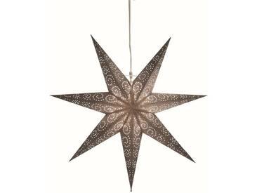 STAR Star Papierstern zum Hängen, mit Kabel »Metasol«, silberfarben, Breite x Tiefe x Höhe in cm : 60 x 16 x 60, Silber