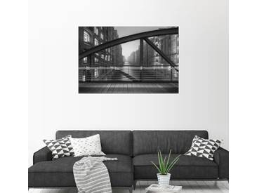 Posterlounge Wandbild - Dennis Siebert »Auf dem Kibbelsteg«, grau, Alu-Dibond, 120 x 80 cm, grau