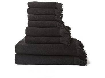 Casa di Bassi Handtuch Set »mit Fransenabschluss«, Fransenabschluss, schwarz, schwarz