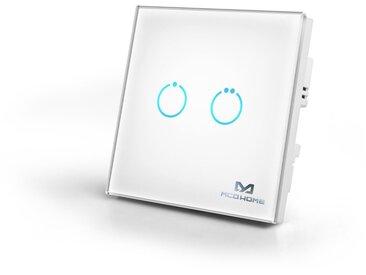 Z-Wave Smart Home Zubehör »Glas-Wandschalter GEN 5 (2 Tasten) - «, weiß, Weiß