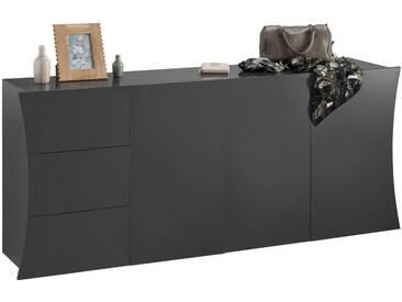 Tecnos Kommode »Arco«, Breite 190 cm, grau, anthrazit HG