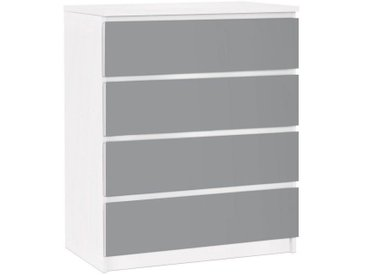 Bilderwelten Möbelfolie für IKEA Malm Kommode »Colour Cool Grey«, bunt, Farbig