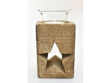HTI-Line Teelichthalter »Stern«, braun, Braun