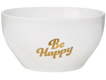 BUTLERS WHITE XMAS »Schale Be Happy 600 ml«, weiß, Weiß-Gold