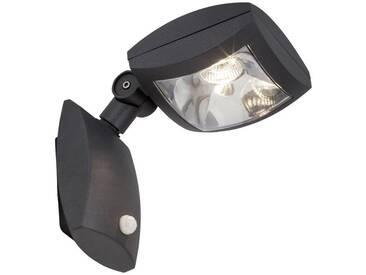 AEG Guardiano LED Außenwandstrahler mit Bewegungsmelder anthrazit, grau, anthrazit