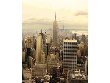 Artland Schlüsselbrett »Jule: Skyline Manhattan - New York«, 25x20 cm, Naturfarben