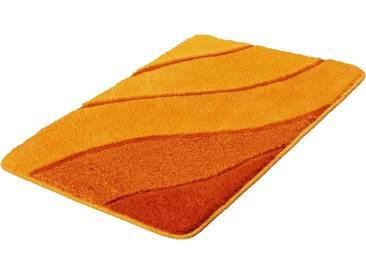 Kleine Wolke Badematte »Serenade« , Höhe 20 mm, rutschhemmend beschichtet, fußbodenheizungsgeeignet, gelb, 20 mm, safran