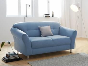 sit&more 2-Sitzer, mit Federkern, blau, 163 cm, blau