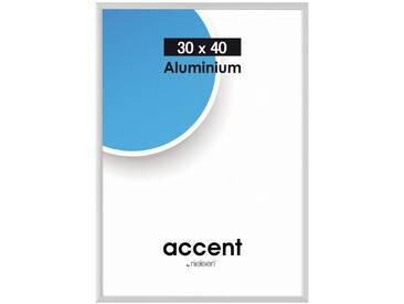 Nielsen Design Bilderrahmen »Nielsen Accent 30x40 Aluminium matt 52424«, silberfarben, silver