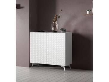 Bruno Banani bruno banani Sideboard »Design 5«, mit 3D-Fronten in Hochglanz, in zwei Breiten, weiß, 2 Türen (105/42/97 cm), weiß Hochglanz