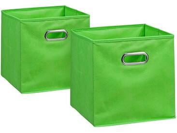Zeller Present Zeller Aufbewahrungsbox »2er Set«, 28 x 28 cm, grün, grün