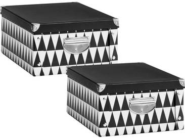Zeller Present Zeller Aufbewahrungsbox Triangle, schwarz, Maße(B/T/H):(40/33/17)(B/T/H):(40/33/17), schwarz