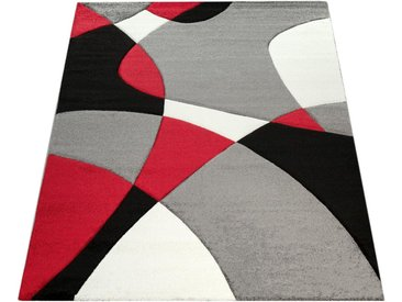 Paco Home Läufer »Diamond 664«, rechteckig, Höhe 18 mm, 3D-Design, Kurzflor mit geometrischem Muster, rot, rot
