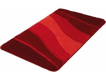 MEUSCH Badematte »Ocean« , Höhe 23 mm, rutschhemmend beschichtet, fußbodenheizungsgeeignet, rot, 23 mm, granat