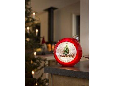 KONSTSMIDE Konstsmide LED Weihnachtskugel mit Weihnachtsmarkt, rot, Lichtquelle Warm Weiß, Rot
