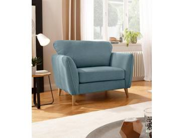 Home affaire Sessel »Marseille«, in skandinavischem Stil, in 3 Bezugsqualitäten, mit Holz-Beinen, grün, salbei